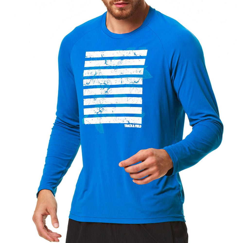 Camiseta Masculina UV Manga Longa Floripa Basic - trackfield - outlet 553b912e93b92
