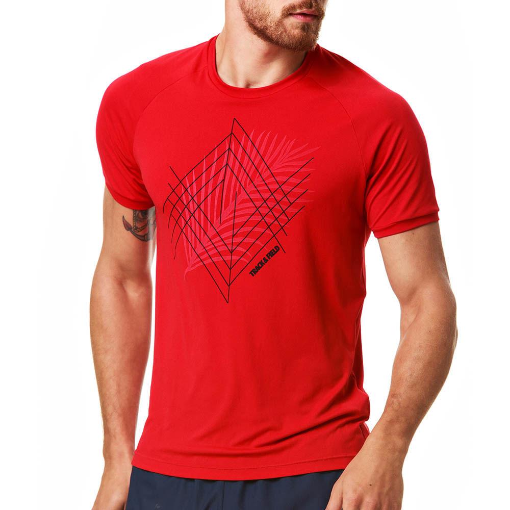 Camiseta Masculina UV Manga Curta Folha Basic - trackfield - outlet aa9baa57242