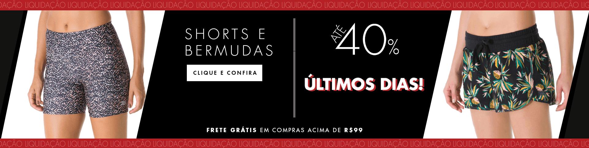 SHORTS FEMININOS ULTIMOS DIAS