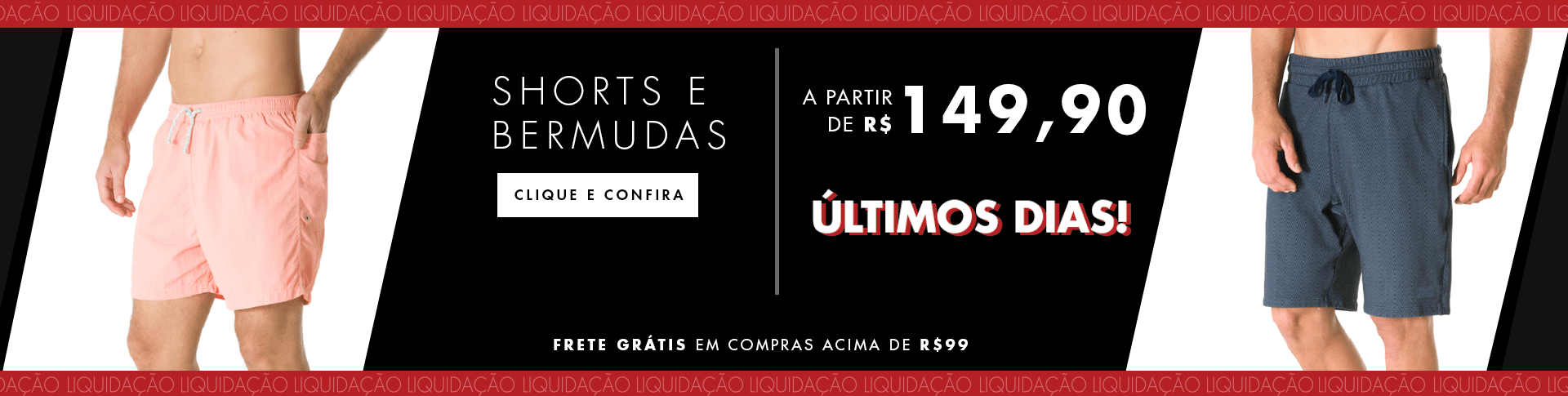 SHORTS MASCULINOS ULTIMOS DIAS