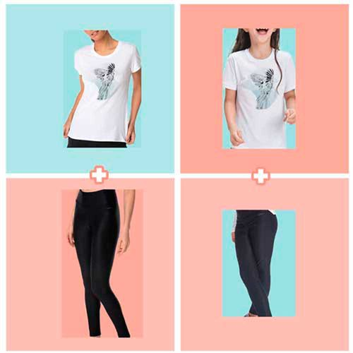 Kit-Mae-e-Filha---Camiseta-Arara---Legging-Textura---Look