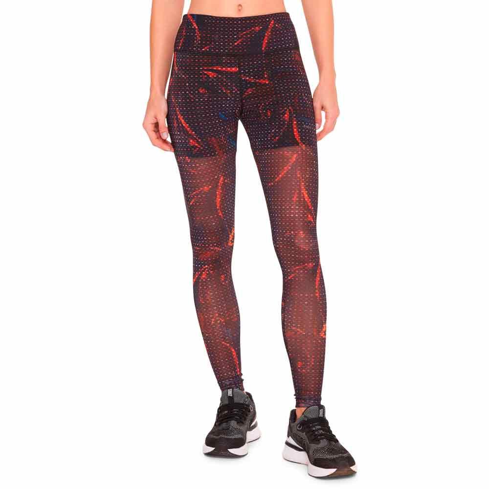 calca-legging-feminina-tule-floral-preta-frente