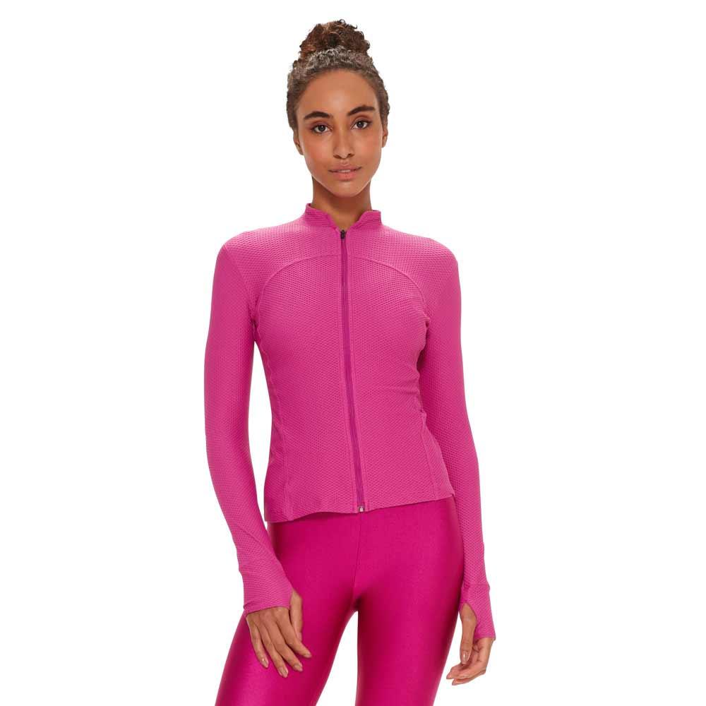 casaco-feminino-fitness-rosa-powercool-frente