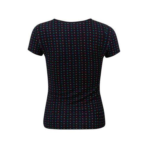 camiseta-feminina-infantil-brilho-preta-costas
