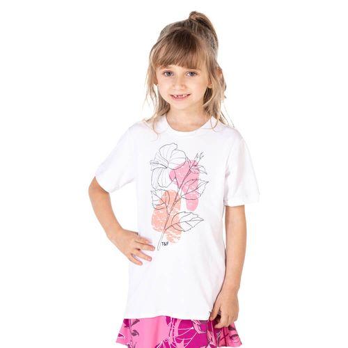 Camiseta-feminina-infantil-manga-curta-thermodry-flor-frente