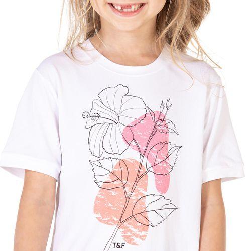 Camiseta-feminina-infantil-manga-curta-thermodry-flor-detalhe