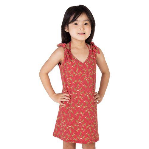vestido-de-praia-infantil-laco-oriente-vermelho-frente