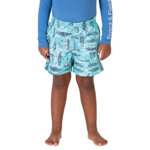 shorts-masculino-infantil-estampado-beach-barcos-azul-claro-frente
